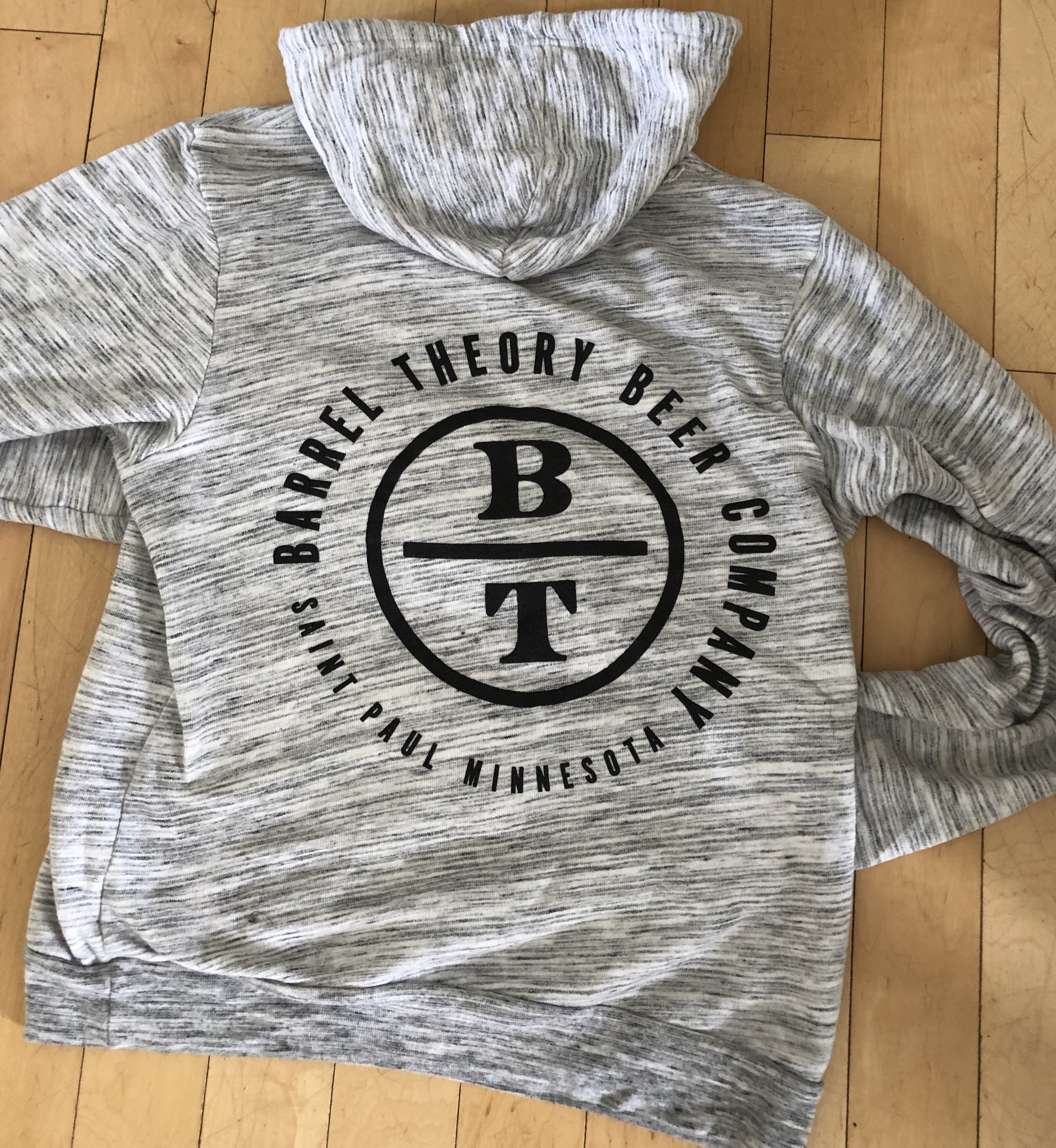 551694925 Hoodie - Gray Pullover - Barrel Theory Beer Company